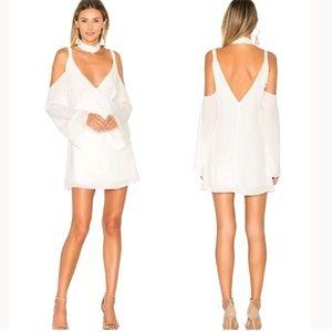 Lovers+Friends Ryder Mini Wrap Dress Cold Shoulder